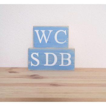 plaques de porte WC SDB
