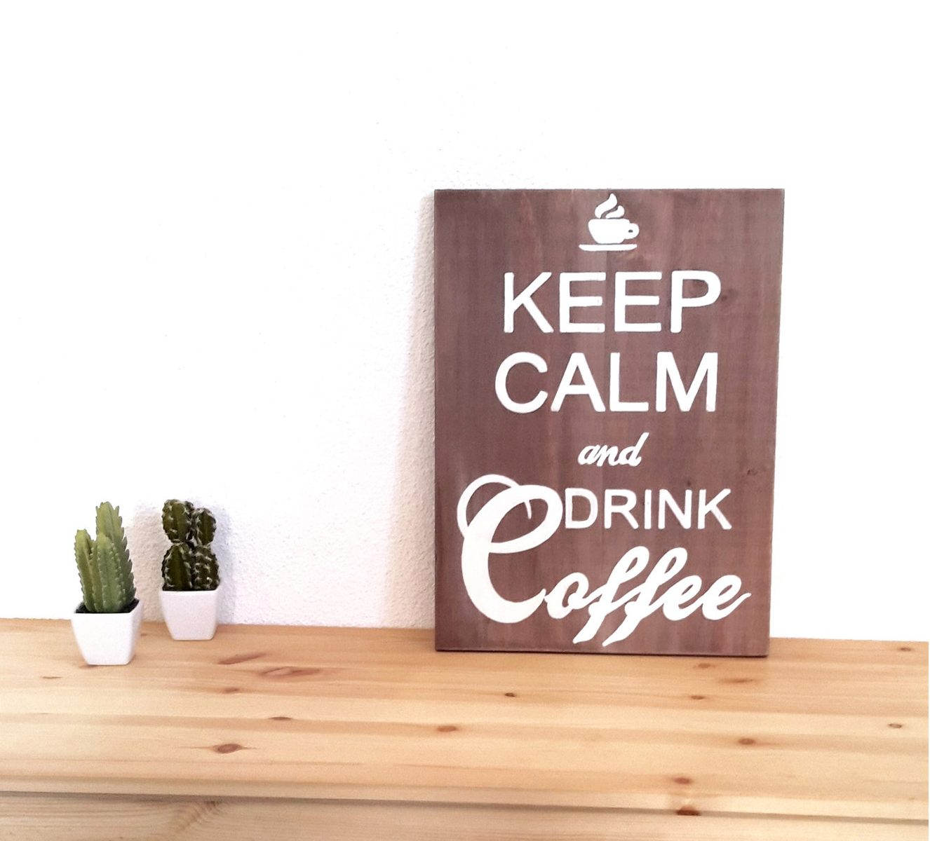 Grand Tableau Keep Calm and Drink Coffee