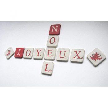 joyeux Noël scrabble 5 cm