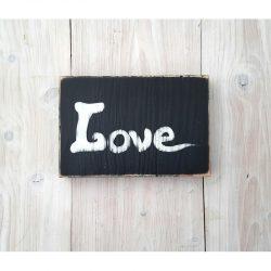 Tableau Love noir et blanc