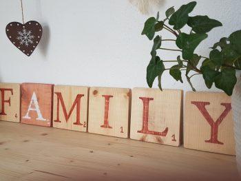 Family Lettres déco terracotta