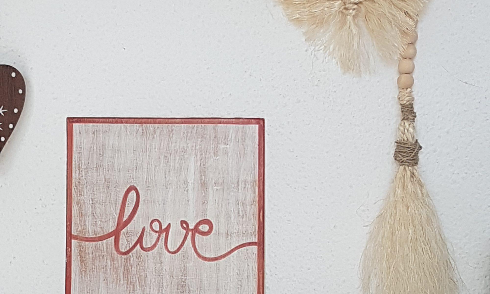 Tableau LOVE Terracotta