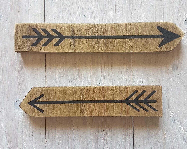 2 flèches bois vieilli